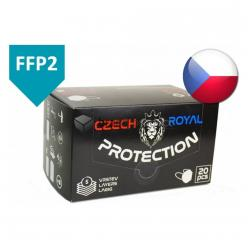RESPIRÁTOR  FFP2 CZ, CZECH Royal protection *DP